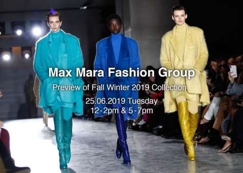 MAX MARA FASHION GROUP 2019秋冬時尚系列預展